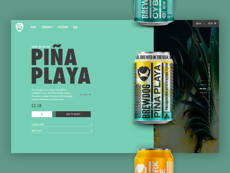 Brewdog Online Shop ux ui clean bright colour shop ecommerce beer