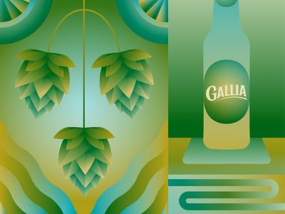 Bar Gallia illustrator gallia bar biere beer illustration drawing dessin