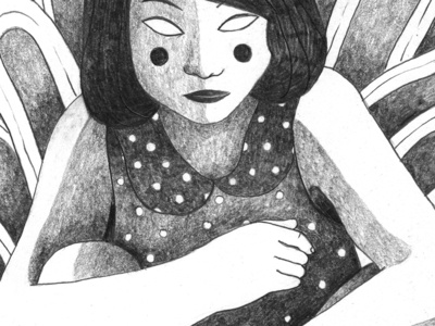 Histoire de l'œil, G. Bataille book portrait eyes hand erotic naked woman black and white drawing dessin illustration