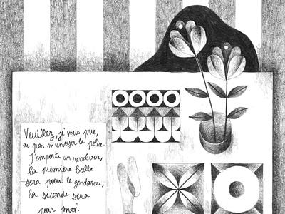 Histoire de l'œil, G. Bataille flower illustration illustration bataille letter plant table flower drawing