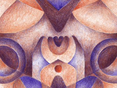Flowers pencil drawing psyche psychedelic natural vegetal purple red colors radiant illustration flowers