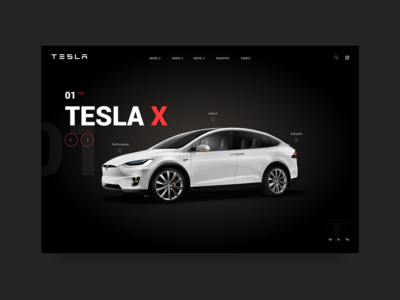 Tesla Motors Inspiration Website