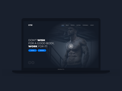 Web Design, Gym Concept Website