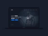 Web Design, Gym Concept Website