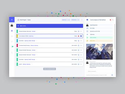 Cloud-based task management (MIZ) admin panel admin task manager task minimal flat web persian ui design clean moghadam.pro