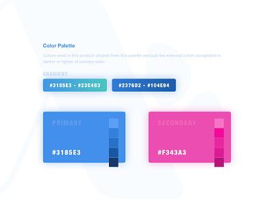 Color Palette brand identity illustrator brands brand design color palette color ux moghadam.pro clean