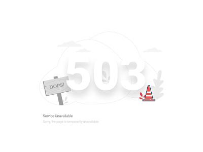 Service Error page - 503 error page error 404 503 vector minimal ui illustration clean moghadam.pro