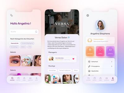Online Booking For Beauty Salons startup berlin deutsch germany beauty blur ux ui branding app clean minimal design moghadam.pro
