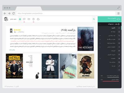 Simad Dashboard ui ux web persian minimal clean design moghadam.pro bootstrap material dashboard admin