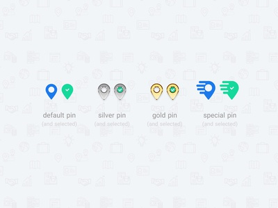 some pin icons for MIZ app