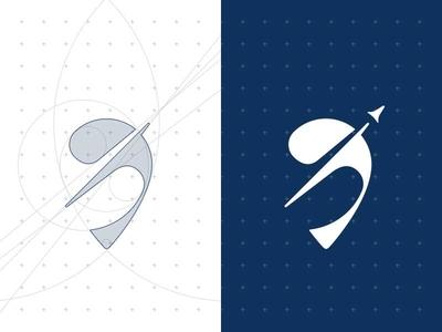 Grow Logo Design (Miz) rocket pink clean branding persian design icon vector illustration logo minimal moghadam.pro