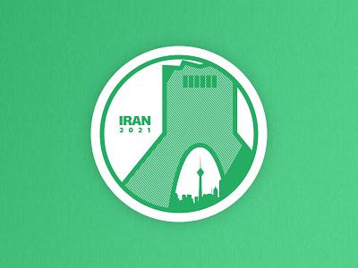 IRAN 2021 -  Weekly Warm-Up - Hometown Sticker illustration tehran iran hometown sticker vector clean moghadam.pro