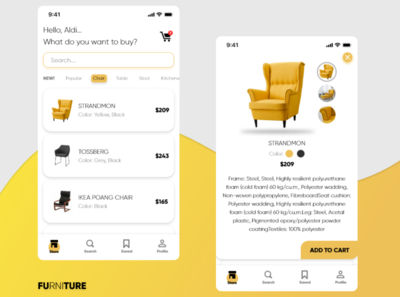 FURNITURE App - Display the Detail of Product