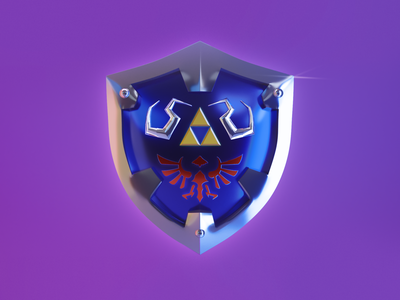 HYLIAN SHIELD blender3d blender3dart blender 3d illustrator 3d modeling 3d illustration 3d artist 3d 3d art illustration