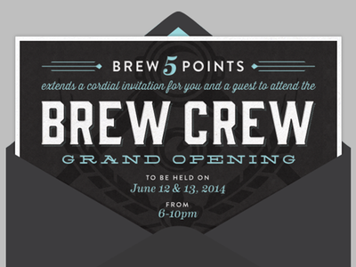 BREW CREW Grand Opening Email Invite