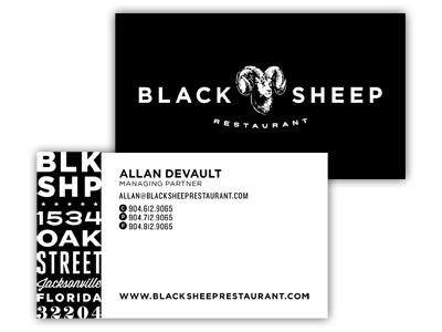 Black Sheep Restaurant Stationary