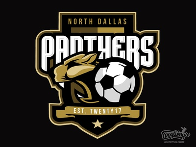 PANTHERS LOGO drawing creative soccer sports graphic illustration logo vector design chipdavid dogwings