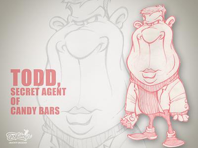 TODD CB AGENT sketchstories sketch branding drawing illustration design chipdavid dogwings