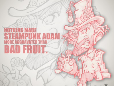STEAMPUNK ADAM steampunk sketchstories sketch creative drawing illustration design chipdavid dogwings