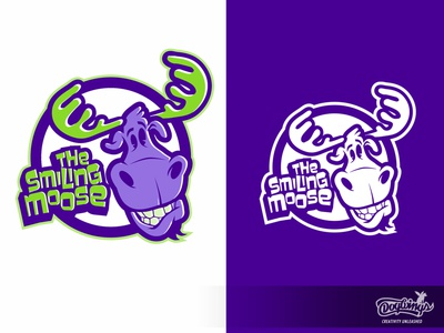 THE SMILING MOOSE sketch cartoon design drawing illustration logo vector chipdavid dogwings