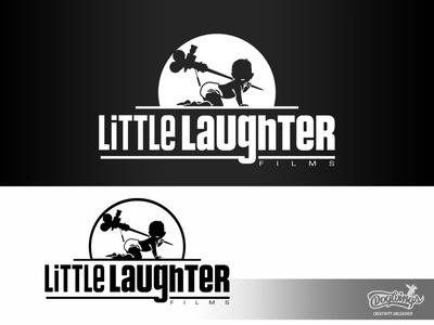 LITTLE LAUGHTER FILMS film branding creative drawing illustration logo vector design chipdavid dogwings