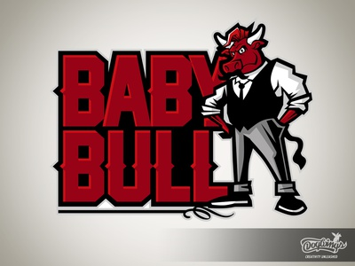 BABY BULL 2 bull cartoon drawing illustration logo vector design chipdavid dogwings