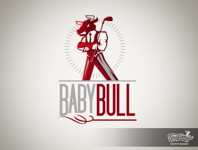 BABY BULL 1 sports graphic branding creative drawing illustration logo vector design chipdavid dogwings