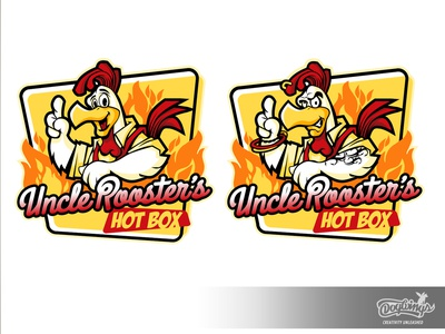 UNCLE ROOSTERS concepts rooster sketch creative cartoon drawing illustration logo vector design chipdavid dogwings