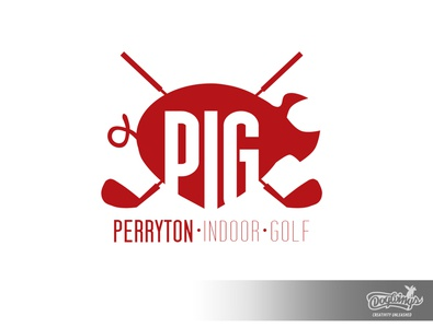 PIG logo 2 golf pig branding creative sports graphic logo vector design chipdavid dogwings