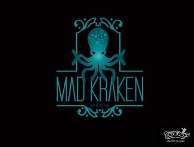 MAD KRAKEN 2 creative drawing illustration logo vector design chipdavid dogwings