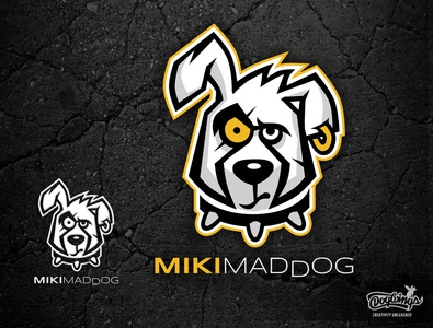 MIKI MADDOG dog cartoon creative drawing illustration logo vector design chipdavid dogwings