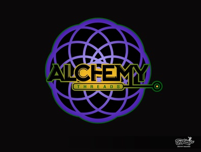 ALCHEMY THREADS logo paintball illustration creative logo vector design chipdavid dogwings