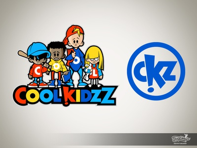 COOL KIDZZ LOGO creative drawing logo branding cartoon illustration vector chipdavid dogwings