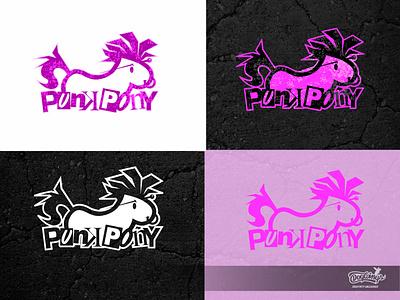 punk pony logo punk pony branding drawing logo vector chipdavid dogwings
