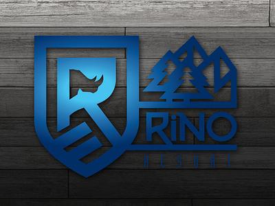 Rino Resort design rhino vector logo dogwings