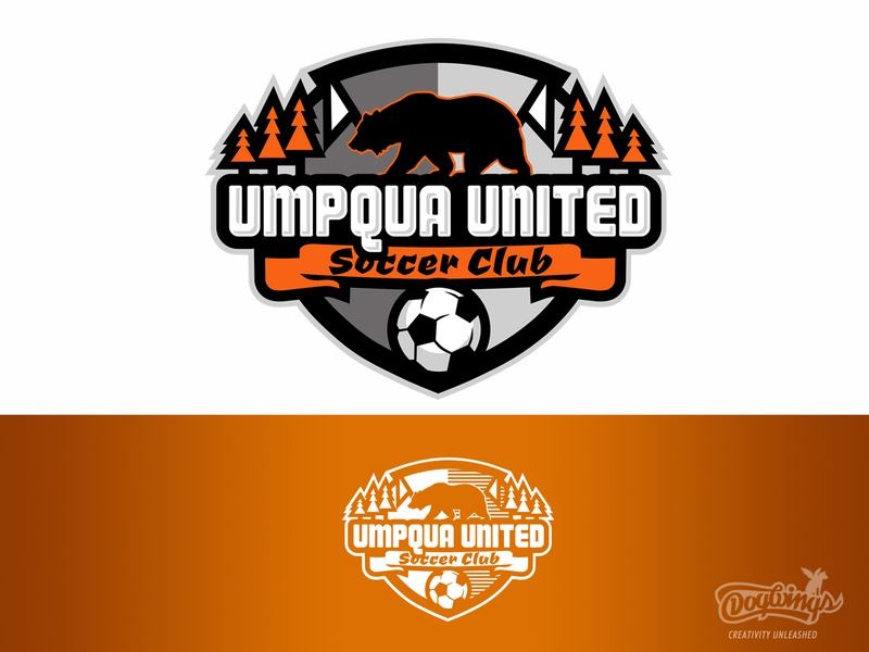 Youth Soccer Club design soccer logo soccer badge soccerball bear soccer branding vector sports graphic logo chipdavid dogwings
