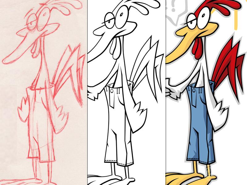Chicken Pantz funny pants chicken design vector sketch cartoon illustration chipdavid dogwings