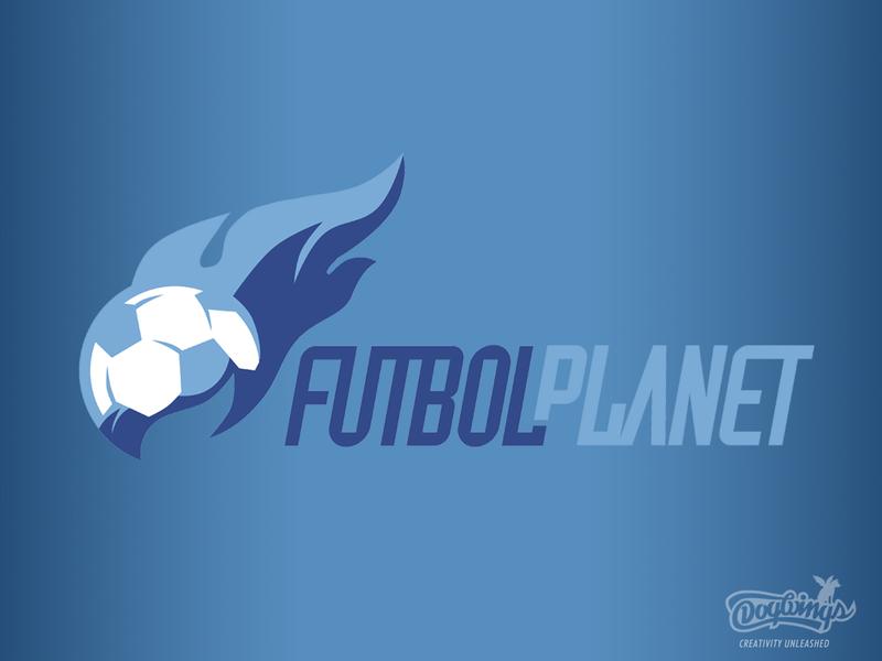 Futbol Planet sportsdesign flame soccer futbol branding sports graphic vector design logo chipdavid dogwings