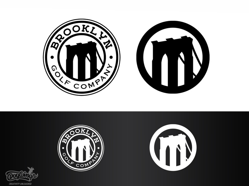 Brooklyn Golf Icons golf brooklyn bridge bridge icons branding sports graphic vector design logo chipdavid dogwings