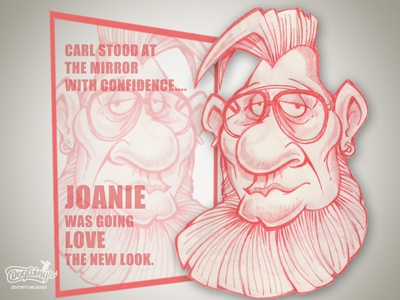 Carl's new look beard hair funny creative drawing sketching sketchstories sketch cartoon illustration design chipdavid dogwings