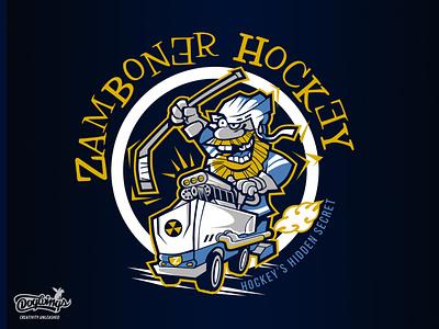 Zamboner Hockey concept zamboni hockey creative sports graphic drawing illustration vector design chipdavid dogwings