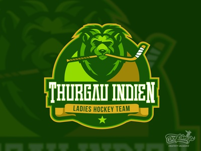 THURGAU LIONS lion hockey creative cartoon branding sports graphic drawing illustration vector logo design chipdavid dogwings