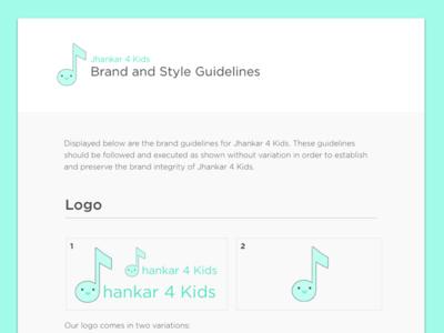 Brand Guide - Jhankar 4 Kids
