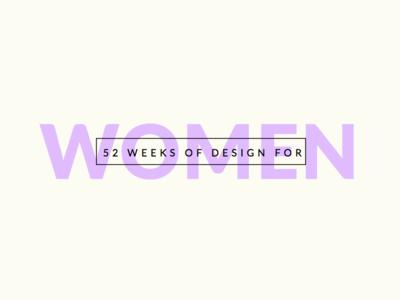 52 Weeks of Design for Women