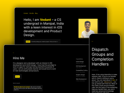 Personal Portfolio mobile portfolio design figma reactjs react uidesign website web ux ui portfolio