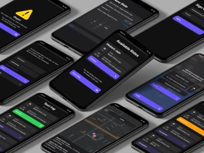 Quiccar swiftui iphonex dark carpool carshare map native iphone apple uiux ui mobile