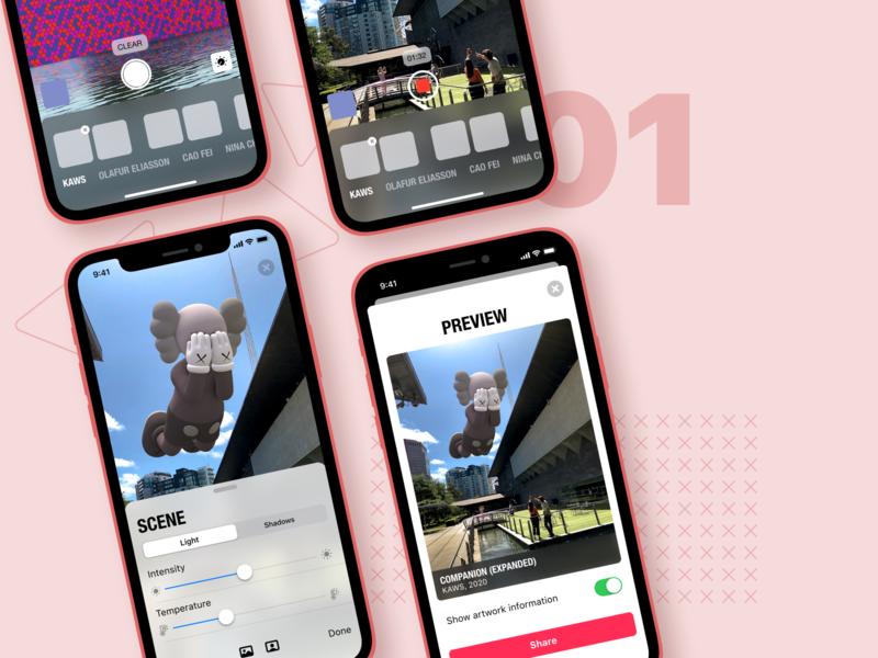Acute Art Redesign minimal dribbble best shot popular trendy iphone redesign augmentedreality ios product design ux ui