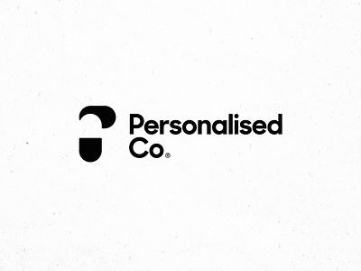 Personalised Co Rebrand vitamin protein minimalist modern texture black  white black sans serif brand identity logotype health wellness supplement pill icon branding logo design brand logo
