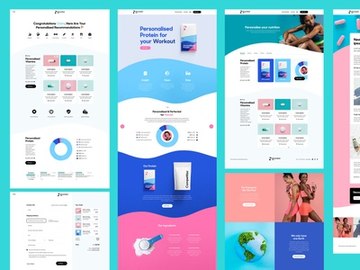 Personalised Co Website Design card pastel blue pink vitamin supplement protein wellness fitness health product ecommerce shopify ux ui website design website design webdesign web
