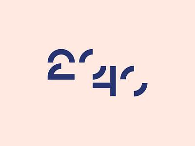 2040 logo design shape abstract minimal modern number 0 zero four two 2040 40 20 4 2 design identity brand identity brand logo design logo